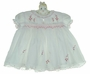"<img src=""https://p11.secure.hostingprod.com/@grammies-attic.com/ssl/images/blue-sold-1.gif""> NEW Sarah Louise White Smocked Dress with Pink Hearts and Rosebud Sprays"