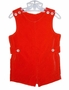 "<img src=""https://p11.secure.hostingprod.com/@grammies-attic.com/ssl/images/blue-sold-1.gif""> NEW Imp Originals Classic Boy's Red Velvet Shortall"