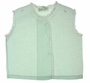 """<img src=""""https://p11.secure.hostingprod.com/@grammies-attic.com/ssl/images/blue-sold-1.gif""""> Heirloom 1930s Feltman Brothers Pale Green Diaper Shirt with Lace and Embroidery"""