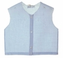 """<img src=""""https://p11.secure.hostingprod.com/@grammies-attic.com/ssl/images/blue-sold-1.gif""""> Heirloom 1940s Blue Diaper Shirt with Embroidered White Design"""