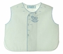 """<img src=""""https://p11.secure.hostingprod.com/@grammies-attic.com/ssl/images/blue-sold-1.gif""""> Heirloom Feltman Brothers White Diaper Shirt with Blue Rocking Horse Embroidery"""