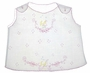 """<img src=""""https://p11.secure.hostingprod.com/@grammies-attic.com/ssl/images/blue-sold-1.gif""""> Vintage 1950s White Button Shouldered Diaper Shirt with Pink and Yellow Embroidery"""