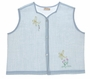 """<img src=""""https://p11.secure.hostingprod.com/@grammies-attic.com/ssl/images/blue-sold-1.gif""""> Vintage 1940s-Blue-Diaper-Shirt with Embroidered Pink and Yellow Flowers"""