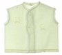 """<img src=""""https://p11.secure.hostingprod.com/@grammies-attic.com/ssl/images/blue-sold-1.gif"""">  1940s Pale Yellow Diaper Shirt with Lace Trim and Embroidered Chicks"""