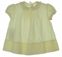 """<img src=""""https://p11.secure.hostingprod.com/@grammies-attic.com/ssl/images/blue-sold-1.gif""""> Heirloom 1940s Unworn Feltman Brothers Pale Yellow Baby Dress with Tiny Pintucks and Lace"""
