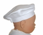 NEW Will'beth White Batiste Beret Style Hat for Babies and Toddlers