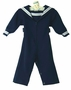 Vintage Navy Crackerjack Style Blue Zip Front Sailor Suit