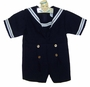 "<img src=""https://p11.secure.hostingprod.com/@grammies-attic.com/ssl/images/blue-sold-1.gif""> Vintage Navy Blue Sailor Shortall with White Braid Trim"