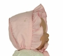 NEW Will'Beth Pink Cotton Bonnet with Embroidered Flowers