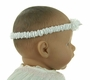 NEW Sarah Louise Infant Headband with Rosebud Trim in White, Pink or Ivory