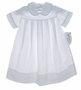 "<img src=""https://p11.secure.hostingprod.com/@grammies-attic.com/ssl/images/blue-sold-1.gif""> NEW Rosalina White Daygown with Blue Checked Piping"