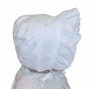 NEW White Bonnet with White Organdy Flowers