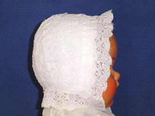 "<img src=""https://p11.secure.hostingprod.com/@grammies-attic.com/ssl/images/blue-sold-1.gif""> Exquisite Heirloom Early 1900s White Lace Christening Cap"
