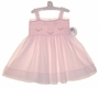 "<img src=""http://site.grammies-attic.com/images/blue-sold-1.gif""> NEW Sarah Louise Pink Voile Smocked Sundress with Pink Embroidery"