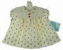 NEW Polly Flinders Ivory Apple Print Dress with Removable Eyelet Collar