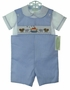 "<img src=""https://p11.secure.hostingprod.com/@grammies-attic.com/ssl/images/blue-sold-1.gif"">  Be Mine Blue Striped Smocked Shortall Set with Noahs Ark Embroidery"