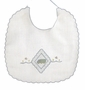 "<img src=""https://p11.secure.hostingprod.com/@grammies-attic.com/ssl/images/blue-sold-1.gif""> NEW Will'Beth White Baby Bib with Embroidered Truck"
