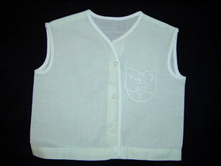 "<img src=""https://p11.secure.hostingprod.com/@grammies-attic.com/ssl/images/blue-sold-1.gif""> Vintage 1940s Palest Green Diaper Shirt with Baby Lamb Embroidery"