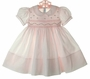 "<img src=""https://p11.secure.hostingprod.com/@grammies-attic.com/ssl/images/blue-sold-1.gif"">NEW Feltman Brothers Pale Pink Smocked Baby Dress with Fagoted Collar"