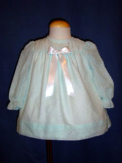 """<img src=""""https://p11.secure.hostingprod.com/@grammies-attic.com/ssl/images/blue-sold-1.gif""""> Polly Flinders Pale Green Dotted Swiss Dress"""