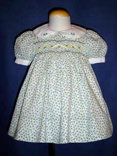 "<img src=""https://p11.secure.hostingprod.com/@grammies-attic.com/ssl/images/blue-sold-1.gif""> Polly Flinders Smocked Dress with Violet and Yellow Flowers"
