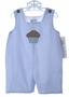 NEW Royal Kidz Blue Striped Shortall with Birthday Applique