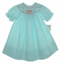 "<img src=""https://p11.secure.hostingprod.com/@grammies-attic.com/ssl/images/blue-sold-1.gif""> NEW Rosalina Teal Smocked Bishop Dress with Birthday Embroidery"