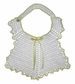 "<img src=""https://p11.secure.hostingprod.com/@grammies-attic.com/ssl/images/blue-sold-1.gif""> Vintage 1940s White Crocheted Bib with Yellow Edging"
