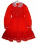 "<img src=""https://p11.secure.hostingprod.com/@grammies-attic.com/ssl/images/blue-sold-1.gif""> Polly Flinders Red Dotted Girls Smocked Dress with White Lace Collar"