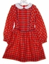 "<img src=""https://p11.secure.hostingprod.com/@grammies-attic.com/ssl/images/blue-sold-1.gif""> Polly Flinders Red Plaid Girls Dress with Front Inverted Pleats"