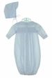 NEW Petit Ami Blue Smocked Daygown with Matching Hat