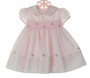 "<img src=""https://p11.secure.hostingprod.com/@grammies-attic.com/ssl/images/blue-sold-1.gif""> NEW Sarah Louise Vintage Style Pink Smocked Dress with Rosebud Embroidery"
