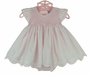 """<img src=""""https://p11.secure.hostingprod.com/@grammies-attic.com/ssl/images/blue-sold-1.gif""""> NEW Sarah Louise Pink Smocked Dress with Scalloped Hem and Angel Sleeves and Matching Diaper Cover"""