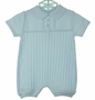 "<img src=""https://p11.secure.hostingprod.com/@grammies-attic.com/ssl/images/blue-sold-1.gif""> NEW Will'Beth Blue Cotton Cablestitched Romper"