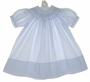 "<img src=""https://p11.secure.hostingprod.com/@grammies-attic.com/ssl/images/blue-sold-1.gif""> NEW Feltman Brothers Blue Bishop Smocked Dress with Blue Embroidery"