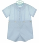 "<img src=""https://p11.secure.hostingprod.com/@grammies-attic.com/ssl/images/blue-sold-1.gif""> NEW Feltman Brothers Blue Button on Shorts Set with Pintucks and Embroidery"