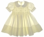 "<img src=""https://p11.secure.hostingprod.com/@grammies-attic.com/ssl/images/blue-sold-1.gif""> Feltman Brothers Pale Yellow Smocked Toddler Dress with Lace Trimmed Collar"