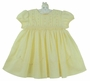 NEW Sarah Louise Yellow Voile Smocked Dress with Detailed Yoke Embroidery