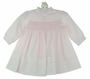 NEW Sarah Louise Pink Voile Smocked Dress with Pintucks and Seed Pearls