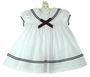 NEW Sarah Louise White Sailor Dress with Navy Trim