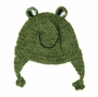 "<img src=""http://site.grammies-attic.com/images/blue-sold-1.gif""> NEW Green Knit Frog Hat for Babies and Toddlers"