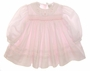 "<img src=""https://p11.secure.hostingprod.com/@grammies-attic.com/ssl/images/blue-sold-1.gif""> NEW Sarah Louise Pale Pink Smocked Baby Dress with Fagoted Organdy Collar"