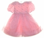 "<img src=""http://site.grammies-attic.com/images/blue-sold-1.gif""> NEW Sarah Louise Pink Organza Dress with Lace, Embroidery, and Seed Pearls"