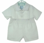 NEW Gordon and Company White Linen Button On Shorts Set