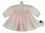 "<img src=""https://p11.secure.hostingprod.com/@grammies-attic.com/ssl/images/blue-sold-1.gif""> NEW Sarah Louise Pink Smocked Dress with Heart and Rosebud Embroidery"
