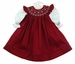 "<img src=""https://p11.secure.hostingprod.com/@grammies-attic.com/ssl/images/blue-sold-1.gif""> NEW Will'Beth White Slip Dress and Dark Red Smocked Pinafore"
