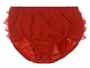 NEW Red Knit Diaper Cover with Sheer Red Ruffles and Satin Bow