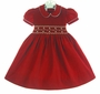 "<img src=""https://p11.secure.hostingprod.com/@grammies-attic.com/ssl/images/blue-sold-1.gif""> NEW Marco & Lizzy Red Pinwale Corduroy Smocked Dress with Embroidered Flowers"