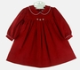 "<img src=""http://site.grammies-attic.com/images/blue-sold-1.gif""> NEW Petit Ami Red Corduroy Dress with White Trimmed Collar and Matching Diaper Cover"