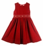 "<img src=""https://p11.secure.hostingprod.com/@grammies-attic.com/ssl/images/blue-sold-1.gif""> NEW Sarah Louise Red Corduroy Jumper with Smocked Waist"